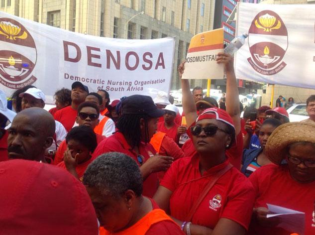 Denosa Denosa Lead A Nurses March To Western Cape